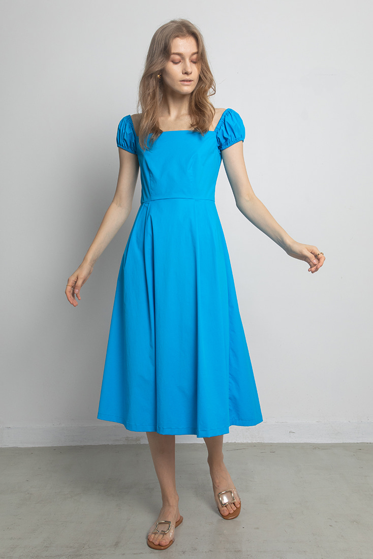 Square Lolita Dress - Neon Blue