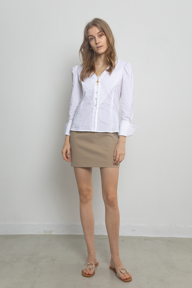 High Quality Simple Mini Skirt - Beige