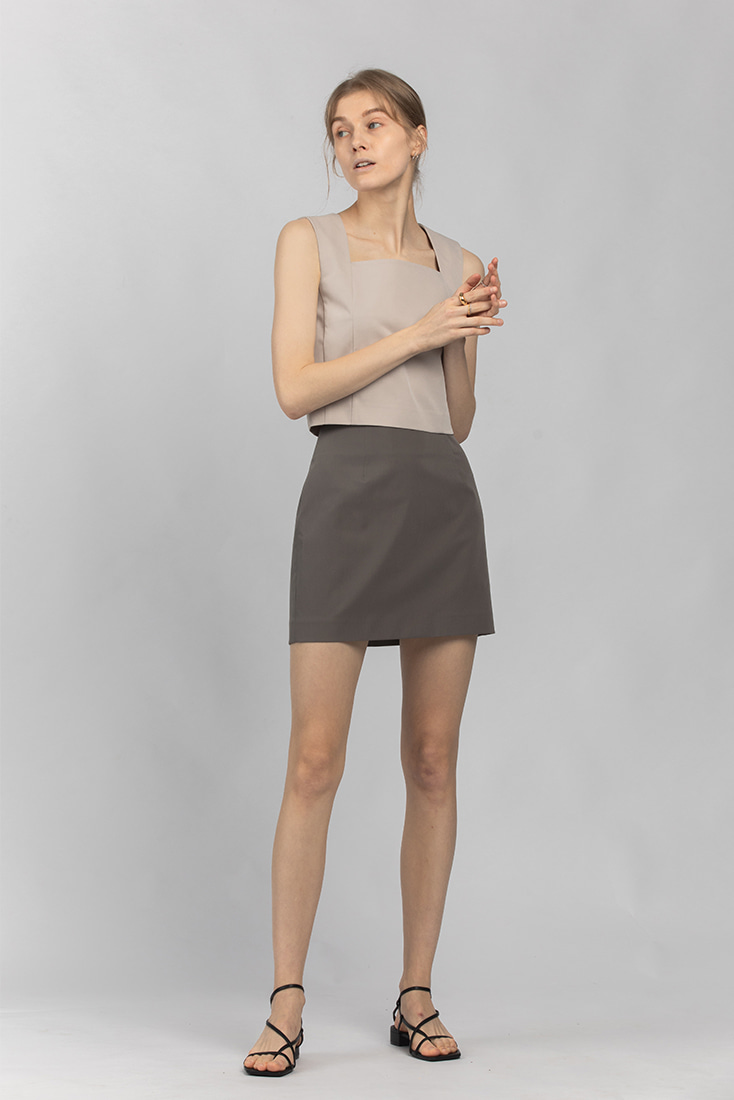 High Quality Simple Mini Skirt - Grey