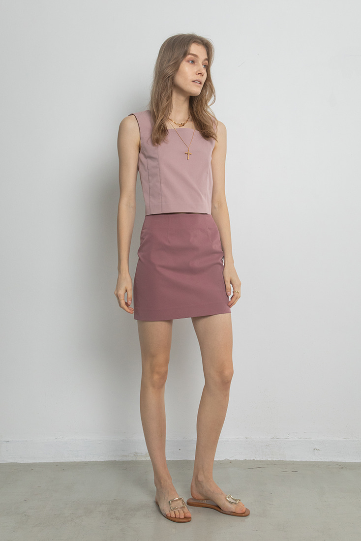 High Quality Simple Mini Skirt - Pink